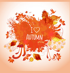 Watercolor art for autumn activities vector