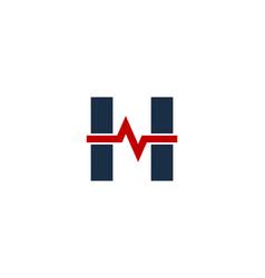 wave letter h logo icon design vector image