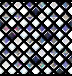 white diamonds seamless pattern vector image
