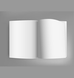 white open book on grey table vector image