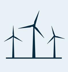Wind turbine icon wind power energy vector