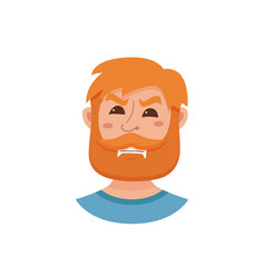 beard men facial expression vector image