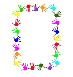 Colorful hand frame vector image vector image