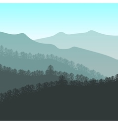 Panorama of mountain ridges vector image