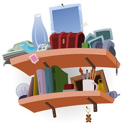 Shelf full of Stuff vector image vector image