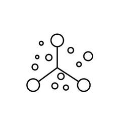 atoms icon vector image