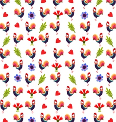 Background With Roosters vector image