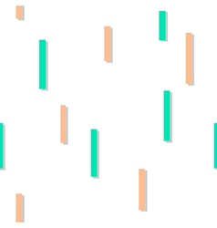 Green Orange Square Abstract White Background vector image