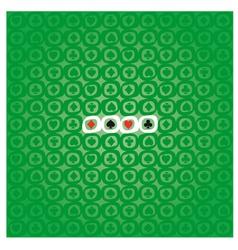 POKER pattern vector image vector image
