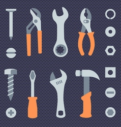 Repair tools simple icons set vector image vector image