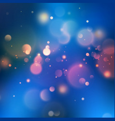 blue bokeh abstract background eps 10 vector image vector image