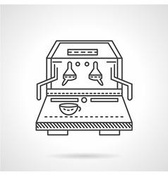 Flat line coffee machine icon vector image vector image
