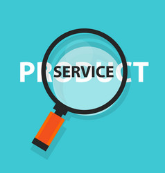product or service concept business analysis vector image vector image