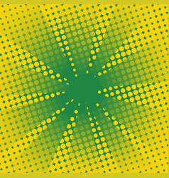 retro rays comic yellow green background vector image vector image
