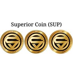 Set of physical golden coin superior coin sup vector