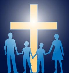 church family vector image