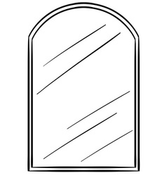 Glass mirror with frame vector image vector image