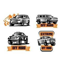 Off-road suv car vector