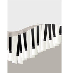 piano keys retro background vector image