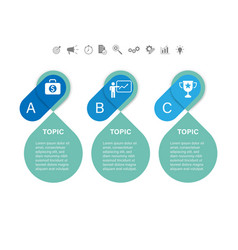 3 steps arrow infographic vector image