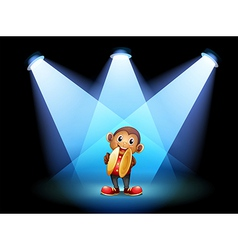 A monkey with cymbals at the stage vector