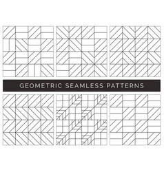 abstract geometric seamless patterns vector image