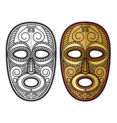 african mexican aztec tribal mask isolated vector image