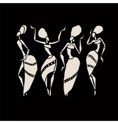 African silhouette set vector image
