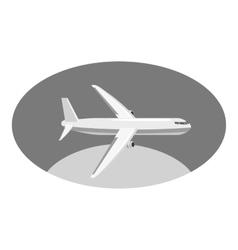 Airplane icon gray monochrome style vector