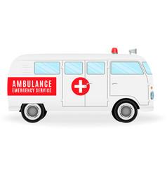 ambulance car emergency medical service vehicle vector image