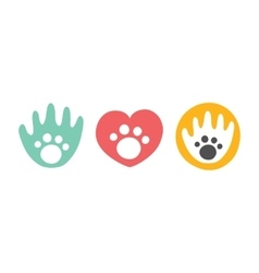 Animal club isolated badges vector image