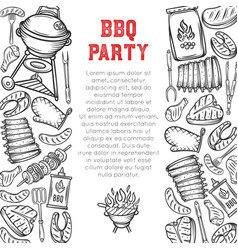 barbecue page design vector image