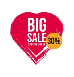 Big sale 30 special offer template design vector