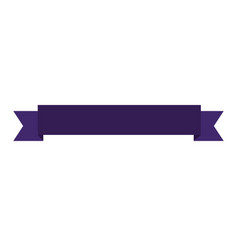blank ribbon banner vector image