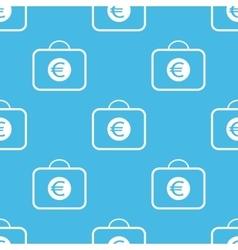 Blue euro briefcase pattern vector