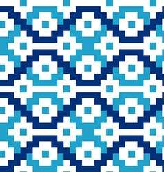 Blue geometric blocks in a seamless pattern vector