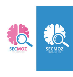 Brain and loupe logo combination education vector