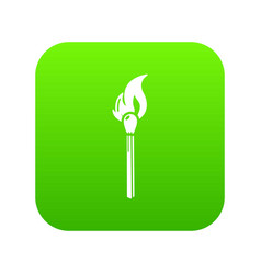 burning match icon simple black style vector image