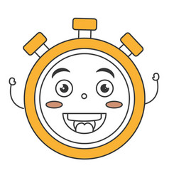 chronometer timer kawaii character vector image