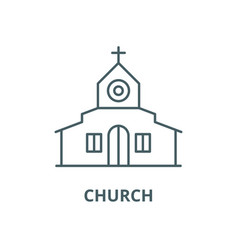 church line icon church outline sign vector image