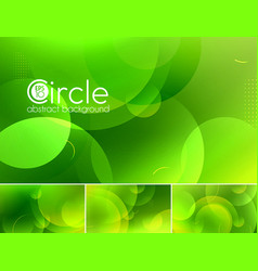 Circle abstract background - green vector