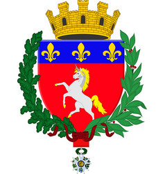 coat of arms of saint-lo in normandy is a region vector image