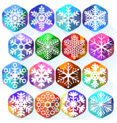 colorful snowflakes vector image