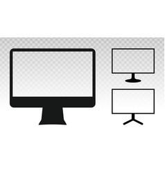 Computer monitor screen flat icon vector