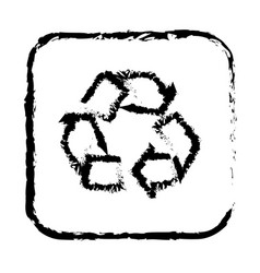 contour symbol recycle icon vector image
