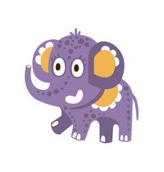 cute cartoon baelephant character posing vector image
