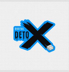 Digital detox sticker design vector