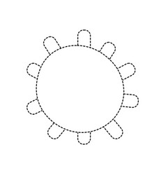Dotted shape sun light weather with ray design vector