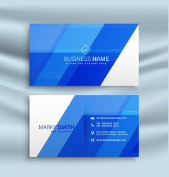 Elegant blue business card stationary template vector