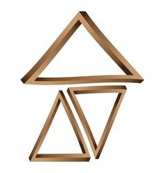 Fantastic triangles3 vector image